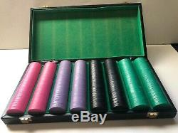Le Fermiers Banque Poker chips Set VTG Casino Quality Mermaid Border 396 Chip