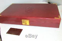 Le Must De Cartier Paris Vintage Set Casino Poker Chips Burgundy Leather Case