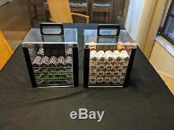 Le Paulson Noir Huge 1,388 Poker Chip Set New Discontinued Rare Collectors