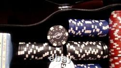 Limited Edition Hard Rock Cafe Poker Set In Leather Guitar Case