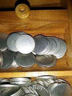 METRO Games New York Token chips game set 48 Brass SUNBEAM Lucky Coins