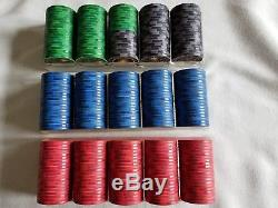 MINT 300 CHIPCO VINEYARD CASINO NCV Chips Set of Red, Blue, Green & Black