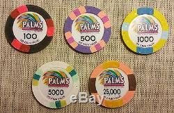 MINT Rare Poker SuperStars Tournament Chip Set Palms Casino BCC Paulson GPI