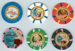 Marilyn's Celebrity Casino 6 Casino Poker Chip Set Spokane Wa Uncirculated