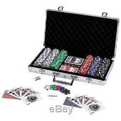Maxam 309 pc Poker Chip Set in Aluminum Case Dice Cards Marker Cue