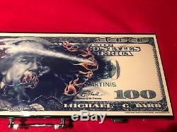 Michael Godard $100 BILL WithDICE POKER CHIP SET
