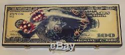 Michael Godard $100 Bill With Dice Poker Set