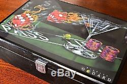 Michael Godard Poker Chip Set 200 Chips Casino Cards and Dice