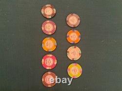 Monico Club Casino Poker chip set 1400 with plastic holding trays BRAND NEW