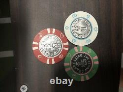 Mullet Bay Grand Casino Chip Bud Jones Set. $1, $5, $25