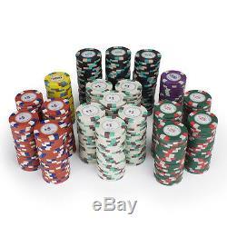 NEW 1000 Poker Knights 13.5 Gram Poker Chips Set Aluminum Case Pick Chips