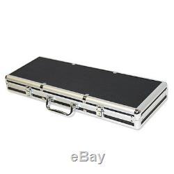 NEW 500 Nile Club Ceramic 10 Gram Poker Chips Set Black Aluminum Case Pick Chips