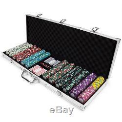 NEW 600 Monaco Club 13.5 Gram Poker Chips Set with Aluminum Case Pick Chips