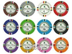NEW 750 Bluff Canyon 13.5 Gram Clay Poker Chips Set Aluminum Case Pick Chips