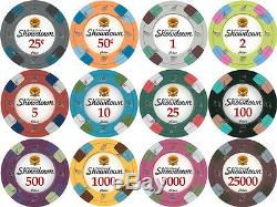 NEW 750 PC Showdown 13.5 Gram Clay Poker Chips Aluminum Case Set Pick Your Chips