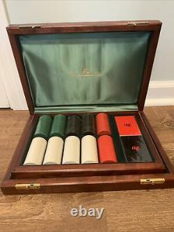 NEW Abercrombie & Fitch Poker Chip Gaming Boxed Set Wood