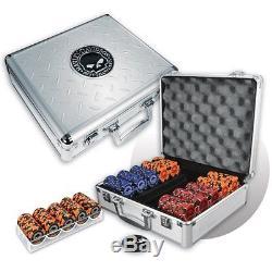NEW Harley Davidson 300 Chips Skull Poker Set 11.5gm FREE SHIPPING