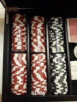 NEW RARE WSOP Professional 300 11.5 Grem Poker Chip Set Wooden Case Word Series
