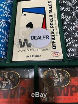 NEWMichelob Amber BockWPT Poker 400 Chip SetHeavy Duty Mahogany Case