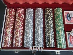 NFL Tom Brady, New England Patriots, official size/weight poker chip set in Case