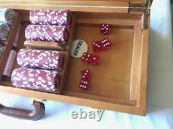 NIB 500 Casino Poker Chips Las Vegas Set Heavy 11.5g with Trays and wood box