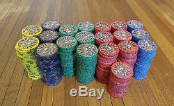 Nevada Jack Poker Chip Tournament Set 495 Ct Mint Condition