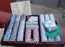 Never UsedWorld Poker Tour1000 CtCardsSet In TrayMahoganyFree Shipping
