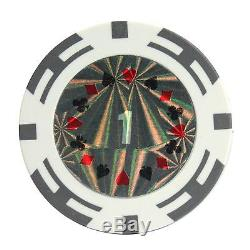 New 1000 Ct Poker Laser Clay Poker Chip Set with Aluminum Case