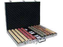 New 1000 Nile Club 10g Ceramic Poker Chips Set with Aluminum Case Pick Chips