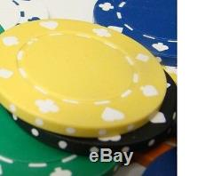 New 1000 Suited 11.5g Clay Poker Chips Set with Acrylic Case Pick Chips