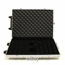 New 1000 Yin Yang 13.5g Clay Poker Chips Set with Rolling Case Pick Chips