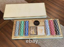 New $2500 Aerin Shagreen Luxury Poker Chips Card Game Set