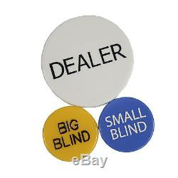 New 500 Ct City View Clay Poker Chip Set with Aluminum Case