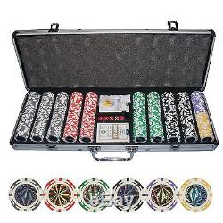 New 500 Ct Poker Laser Clay Poker Chip Set with Aluminum Case