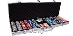 New 600 Las Vegas 14g Clay Poker Chips Set with Aluminum Case Pick Chips