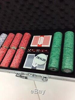 New 600 Scroll 10g Ceramic Poker Chips Set with Aluminum Case (R#3)