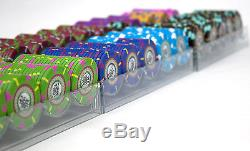 New 600 The Mint 13.5g Clay Poker Chips Set with Acrylic Case Pick Chips