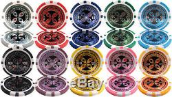 New 600 Ultimate 14g Clay Poker Chips Set with Acrylic Case Pick Chips