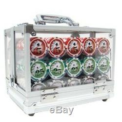 New 600 Yin Yang 13.5g Clay Poker Chips Set with Acrylic Case Pick Chips