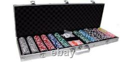 New 600 Yin Yang 13.5g Clay Poker Chips Set with Aluminum Case Pick Chips