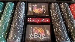 New Limited Edition 203/500 Michael Godard $100 BILL Poker Chip Set WithDice