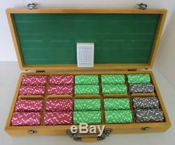 New Old Stock Paulson Poker Chip Set Pro Series 500 Chips with Cards & Case
