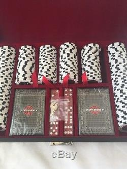 New Rare Odyssey Golf Casino Chips Poker Set With Cards, Dice Callaway Whi/black