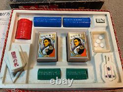 Nintendo 1970s Vintage Very Rare Hanafuda 88 Card Game Set W Box Poker Chip NEW
