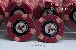 PAR A DICE Paulson Poker Chip Set QTY 480 Chips Casino Used top hat & Cane LOT2