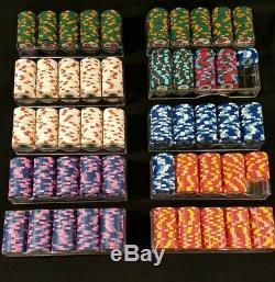 PAULSON TOP HAT & CANE CASH GAME 938 POKER CHIP SET DISCONTINUED With ACRYLIC CASE