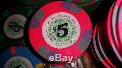 Paulson Casino De Isthmus Poker Chip Set 307 total chips from James Bond movie