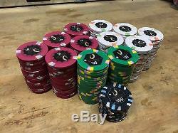 Paulson Casino Poker Chip Set 250 Genuine Horseshoe Clay Chips
