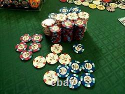 Paulson Pharaoh Poker Chip Set. 200. Excellent cond. Mint. Cash game set