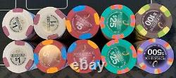 Paulson Poker Chip Set of 200 (Mint condition) Genuine Clay Casino Chips